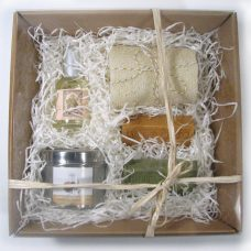 Kadopakket, geurkaars natuurlijke geur, Marseille bio Olijf-arganzeep, Bio-zeep abrikoos, natuurlijke parfum, Provence & nature,