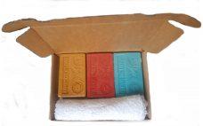 Presentje 3x olijfzeepjes met arganolie ,Arganolie zeep, zeep met arganolie, olijfzeep met arganolie, washand, bedankje, klein cadeautje