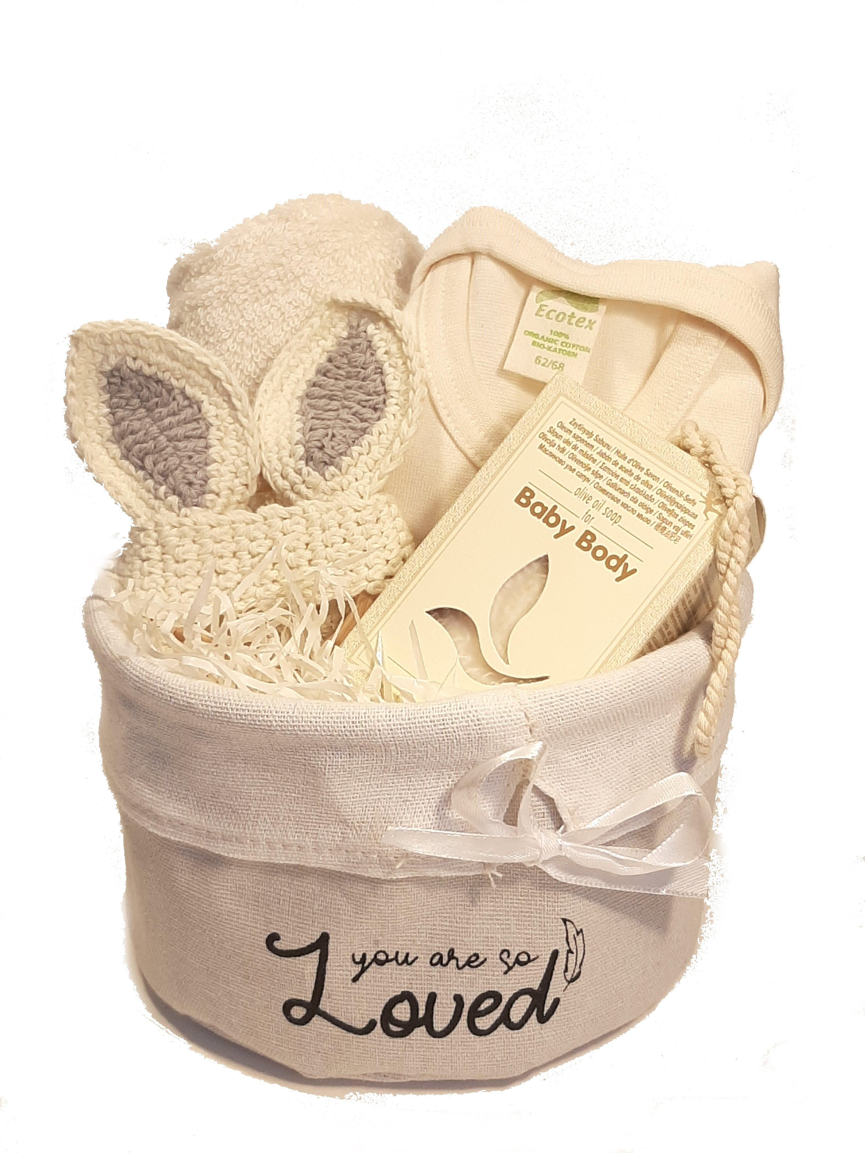 Geboorte Cadeau Uniseks Baby Olijfzeep Crème Kleurig