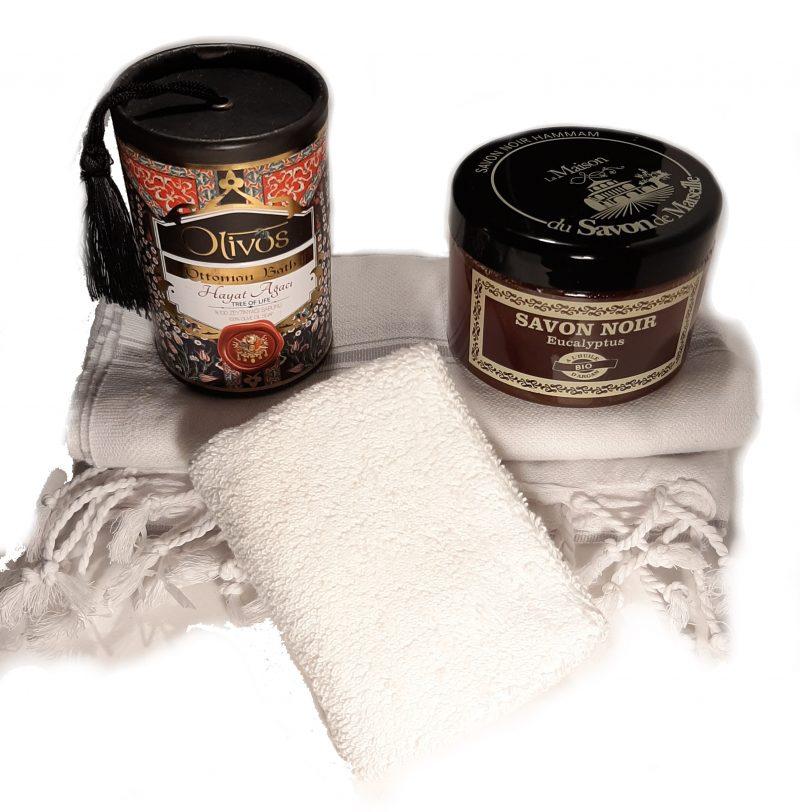 zwarte hamam scrub zeepscrubzeep. hamamdoek, Olivos ottoman bath, Hamamzeep, hamampakket, natuurlijke zeep, biologische zeep